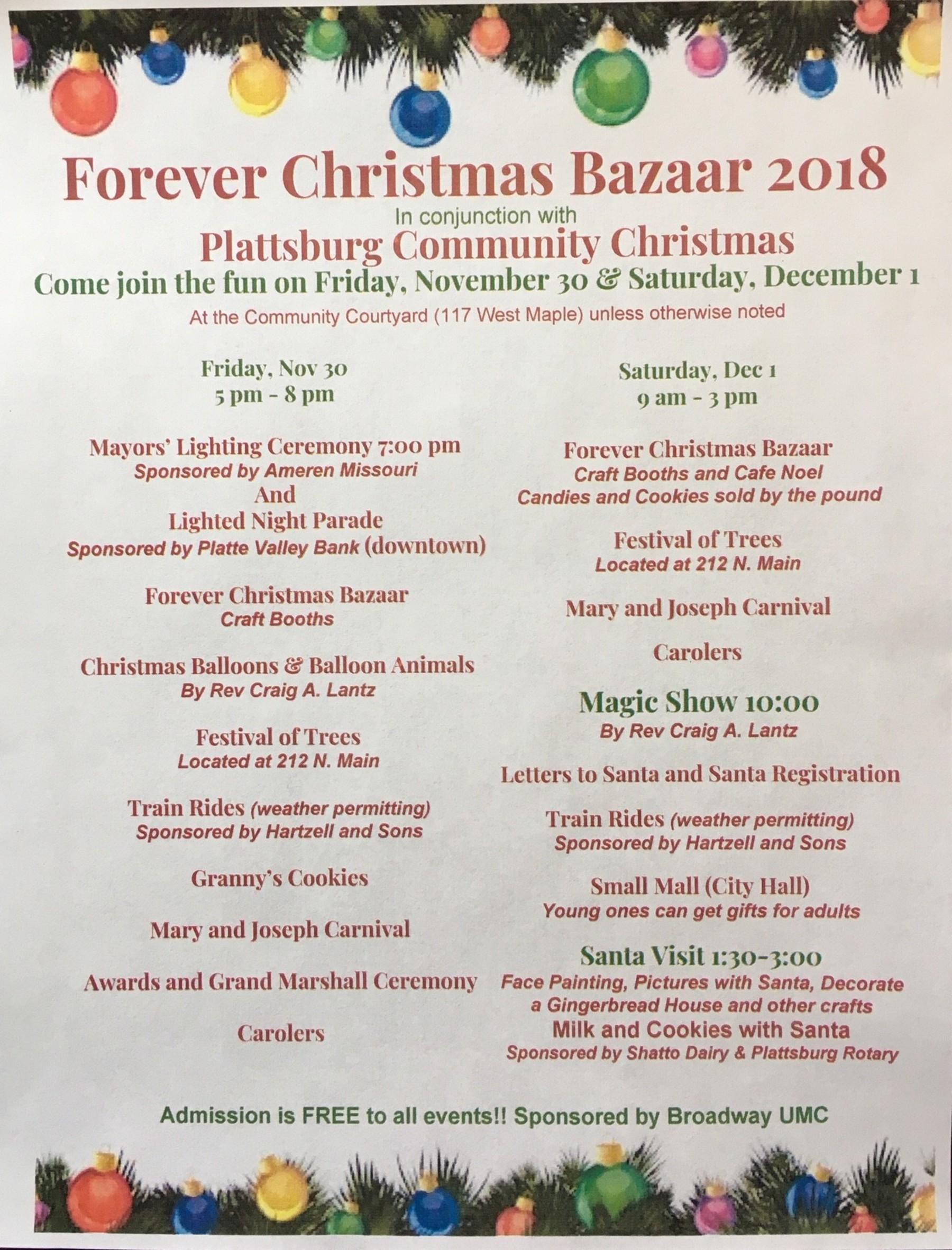Forever Christmas Bazaar Flyer