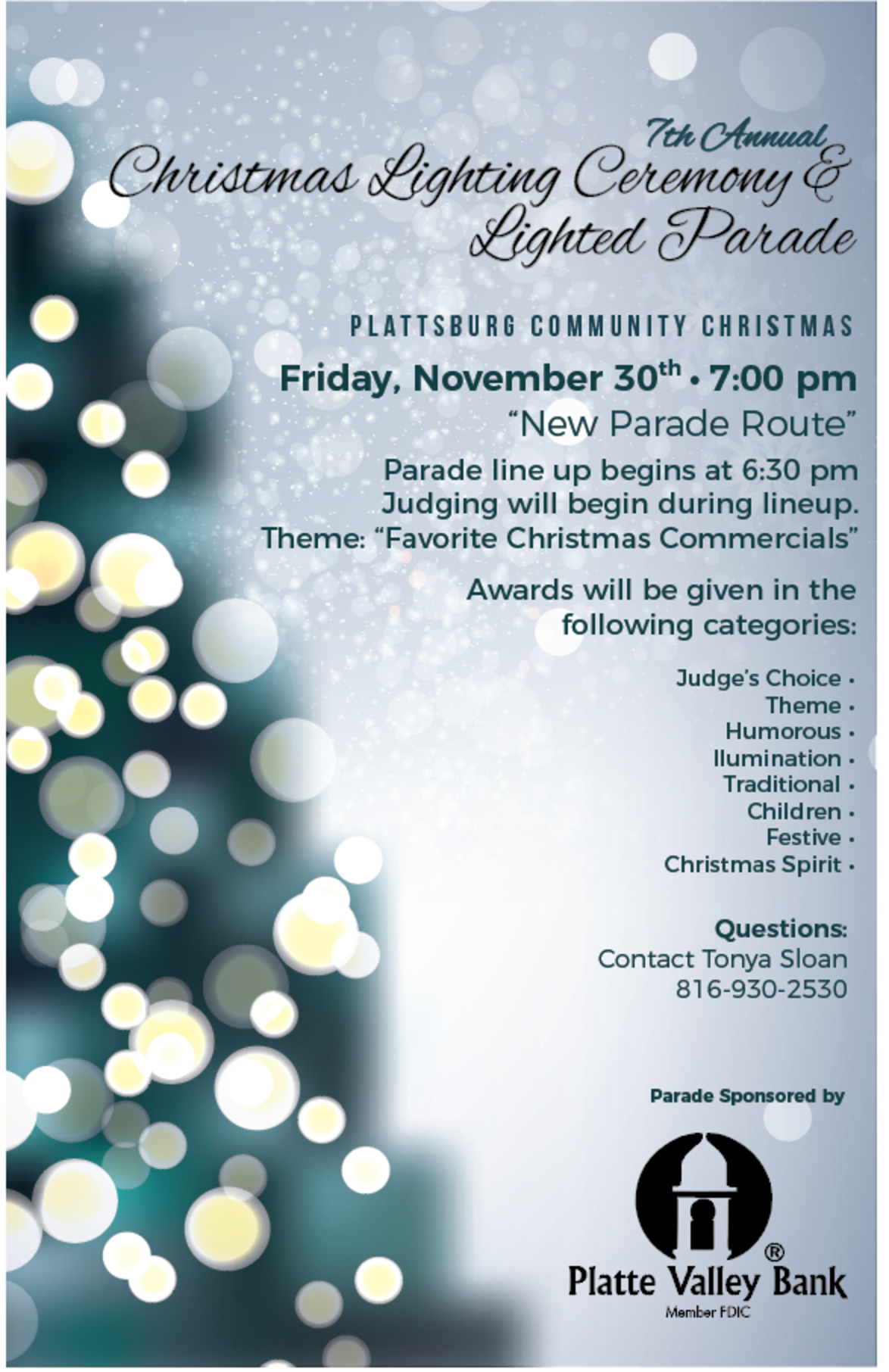 Lighted Parade Flyer