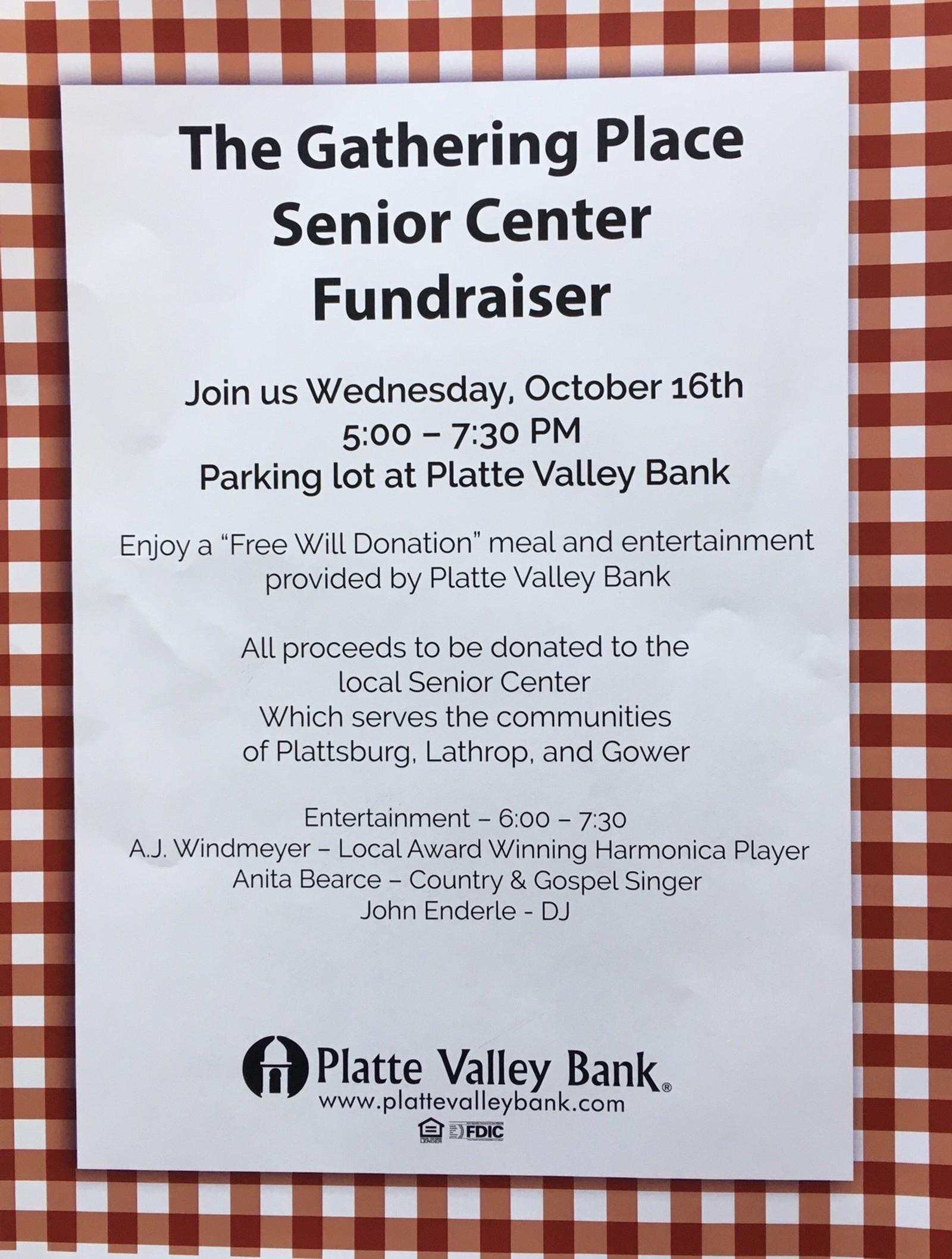 Sr Center Fundraiser