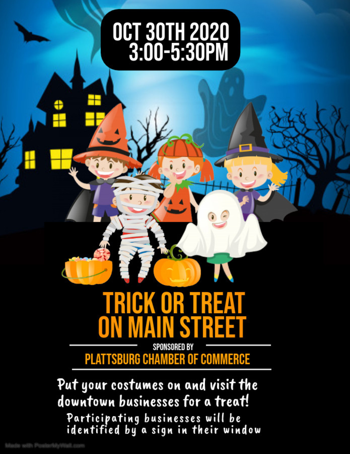 Trick Or Treat On Main St Flier